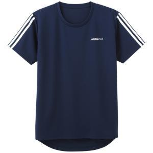 メンズTシャツ Adidas neo アディダスネオ ASC113A 袖3本ライン メッシュ GUNZE グンゼ fujinitt