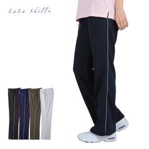 介護用 介護ユニフォーム カジュアルウェアー お洒落なブーツカットパンツ 吸汗速乾燥 超ストレッチ L-2800|fujinitt