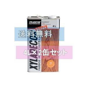 キシラデコール 4L 2缶セット ベロ(注ぎ口)付き|fujino-netshop