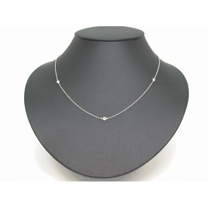 huge selection of 28a58 2e6e6 ティファニー Tiffany & Co バイザヤードネックレス Pt950×5Pダイヤモンド 8620