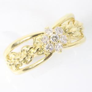 セイコージュエリー ダイヤモンド デザイン リング 18金 (K18)サイズ12.5 0.21ct 指輪 (質屋 藤千商店)|fujisen78