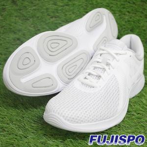 レボリューション 4 ナイキ(NIKE)【野球・ソフト】ランニングシューズ (908988-100)ホワイト×ピュアプラチナ|fujispo