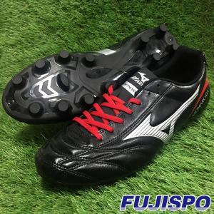 モナルシーダ 2 FS MD(P1GA172303)ミズノ サッカースパイク ブラック×シルバー×レッド【ミズノ/Mizuno】|fujispo