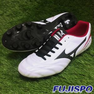 モナルシーダ 2 FS MD(P1GA172309)ミズノ サッカースパイク スーパーホワイトパール×ブラック×レッド【ミズノ/Mizuno】|fujispo