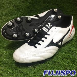 モナルシーダ 2 FS SI(P1GC172309)ミズノ 取替式サッカースパイク スーパーホワイトパール×ブラック×レッド【ミズノ/Mizuno】|fujispo