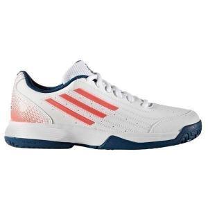 アディダス adidas テニスシューズ ジュニア オールコート Sonic Attack K BB4123 ランニングホワイト/テックスティールF16/フラッシュレッドS15...