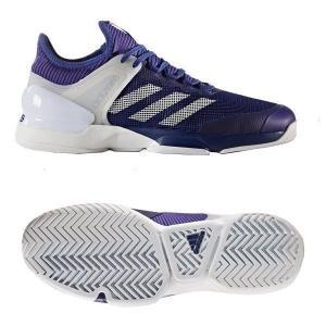 アディダス adidas テニスシューズ オールコート adizero ubersonic 2 AC CG3084 ミステリーインクF17/ランニングホワイト/エナジーインクF17...