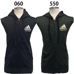 アディダス adidas メンズ トレーニング ノースリーブ パーカー コンバット CHBSS01 060 550|fujisports