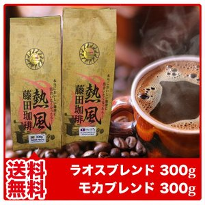 コーヒー豆 ラオスブレンド・モカブレンド 各300g 合計6...