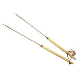 18-8 ステンレス 木柄 盛り箸 18cm|fujitadougu