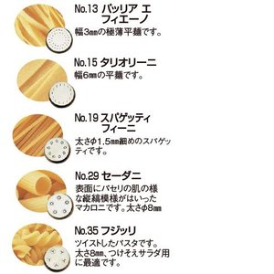 TR-5 専用ダイス No.27 レジネッレ ドッピエ (麺幅10mm) fujitadougu