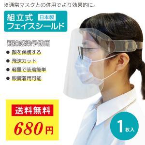 フェイスシールド 日本製 フェイスガード アイシールド 1枚入り 国産 送料無料|fujitoku