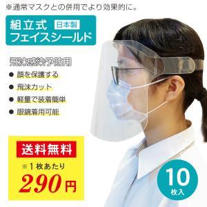 フェイスシールド 日本製 フェイスガード アイシールド 10枚入り 国産 送料無料|fujitoku