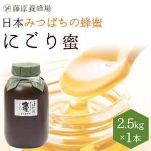 はちみつ 国産 日本ミツバチ 藤原養蜂場の日本在来種みつばちの蜂蜜 巣ごと搾った にごり蜜 2500...