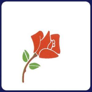 紙コースター 薔薇(角型) /100枚(袋入り)|fujix-sizai