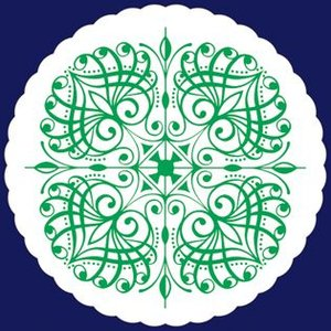 紙コースター 菊丸緑(丸型) 1ケース(100枚×20袋)|fujix-sizai