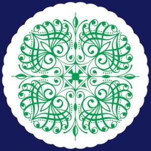 紙コースター 菊丸緑(丸型) /100枚(袋入り)|fujix-sizai