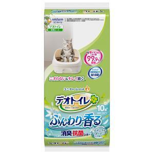 ユニ・チャームペット デオトイレ ふんわり香る消臭・抗菌シートナチュラルガーデンの香り10枚×24袋...