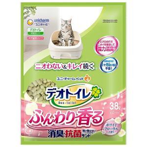 ユニチャーム デオトイレふんわり香る消臭・抗菌サンド ホワイトフローラルの香り3.8L×4パック(1...