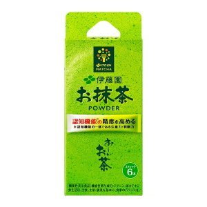 【機能性表示食品】お〜いお茶お抹茶POWDERスティック 10.2g(1.7g×6本)×16個入り ...