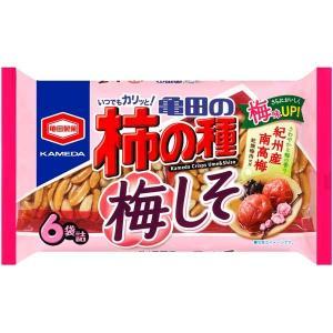 亀田製菓 亀田の柿の種 梅しそ 6袋詰×12(1ケース)(YB)