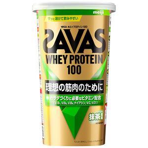 ザバス ホエイプロテイン100 抹茶 14食分 12個セット(1ケース)