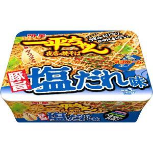 明星 一平ちゃん夜店の焼そば豚旨塩だれ味 132g×12個入り (1ケース) (KT)