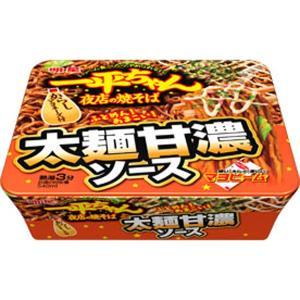 明星 一平ちゃん夜店の焼そば 太麺甘濃ソース 131g×12個入り (1ケース) (MS)