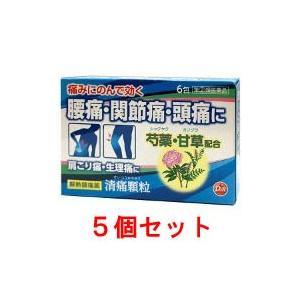 清痛顆粒(6包)5個セット 解熱 痛み止め せいつうかりゅう 頭痛 歯痛 筋肉痛 置き薬 配置薬 富...