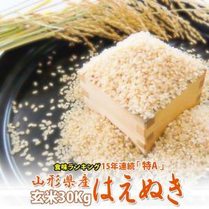 米 お米 30kg 山形県産 はえぬき 米 1等米 玄米30...