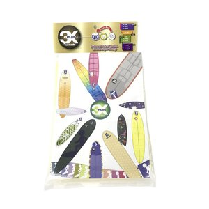3X+PLUS クリアデッキ LS ファンボード用テールデッキ含む(四角形など24枚入り) fuki-fashion