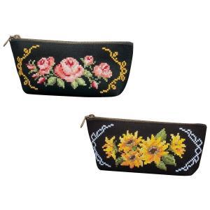 オリムパス 花刺しゅうの優しい小物 ペンケース|fuki-fashion