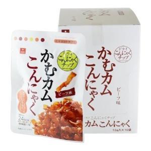 (同梱・代引不可)アスザックフーズ 噛むカムこんにゃく ビーフ味 60袋(10袋×6箱)|fuki-fashion