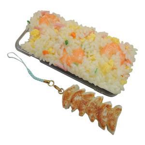 日本職人が作る  食品サンプル iPhone7ケース/アイフォンケース 焼き飯 ストラップ付き IP-711|fuki-fashion