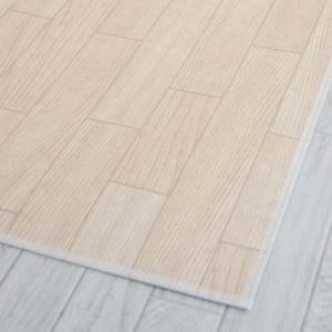 木目調ロングマット 60×150cm ホワイトオーク|fuki-fashion