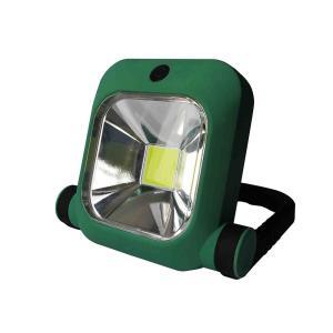 大光量COBLEDを搭載した、充電式の軽量投光器。