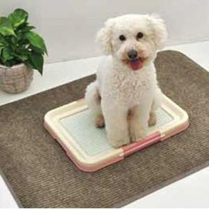 ペット用品 ディスメル・銀世界使用 ペットトイレきれい好きマット 縁加工 70×100(T)cm|fuki-fashion