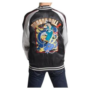 ドラゴンボールZ メンズスカジャン ドラゴン柄 B40・ブラック 1113-702|fuki-fashion
