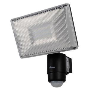 OHM monban LED 家庭用100V電源 センサーライト 黒 LS-A1134B-K|fuki-fashion