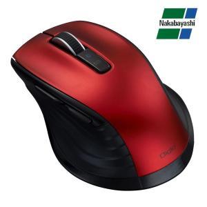 ナカバヤシ Digio2 F_line Bluetooth 静音 5ボタンBlueLEDマウス レッド MUS-BKF146R|fuki-fashion