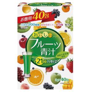 ユーワ おいしいフルーツ青汁 フルーツ味 120g(3g×40包) 4280|fuki-fashion