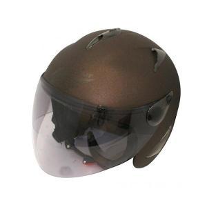 ダムトラックス(DAMMTRAX) BIRD HELMET ヘルメット MAT BROWN|fuki-fashion