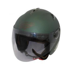 ダムトラックス(DAMMTRAX) BIRD HELMET ヘルメット MAT GREEN|fuki-fashion