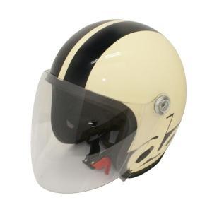 ダムトラックス(DAMMTRAX) JET-S DAMM&RAX dammtrax ヘルメット IVORY/BLACK|fuki-fashion