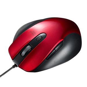 サンワサプライ 有線ブルーLEDマウス(レッド) MA-BL123R|fuki-fashion
