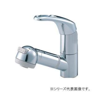 三栄 SANEI Modello シングルスプレー混合栓(洗髪用) K3763JV-C-13 fuki-fashion