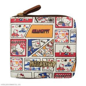 HelloKitty ハローキティ 45周年記念 コミック柄 ラウンドミニ財布 HK61-1|fuki-fashion