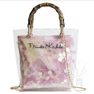 カバン 鞄 レディースショルダーバッグ バッグインバッグ  クリアバッグ 2WAY 通勤  斜め掛け 防水 オシャレ キラキラ ビニールインバッグ|fuki-fashion