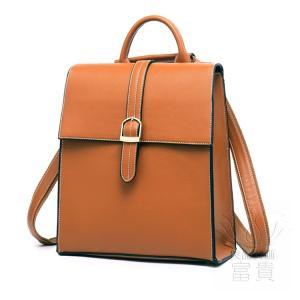 カバン 鞄 本革 ショルダーバック バックパック リュックバック レトロ風 ダークブラウン ipad/mini 対応 肩掛け 斜め掛け 2WAY 無地 通勤|fuki-fashion