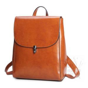 カバン 鞄 本革 ショルダーバック バックパック リュックバック 4色展開 2WAY ipad/mini 対応 無地 レトロ風 差込錠 肩掛け 斜め掛け 通勤|fuki-fashion
